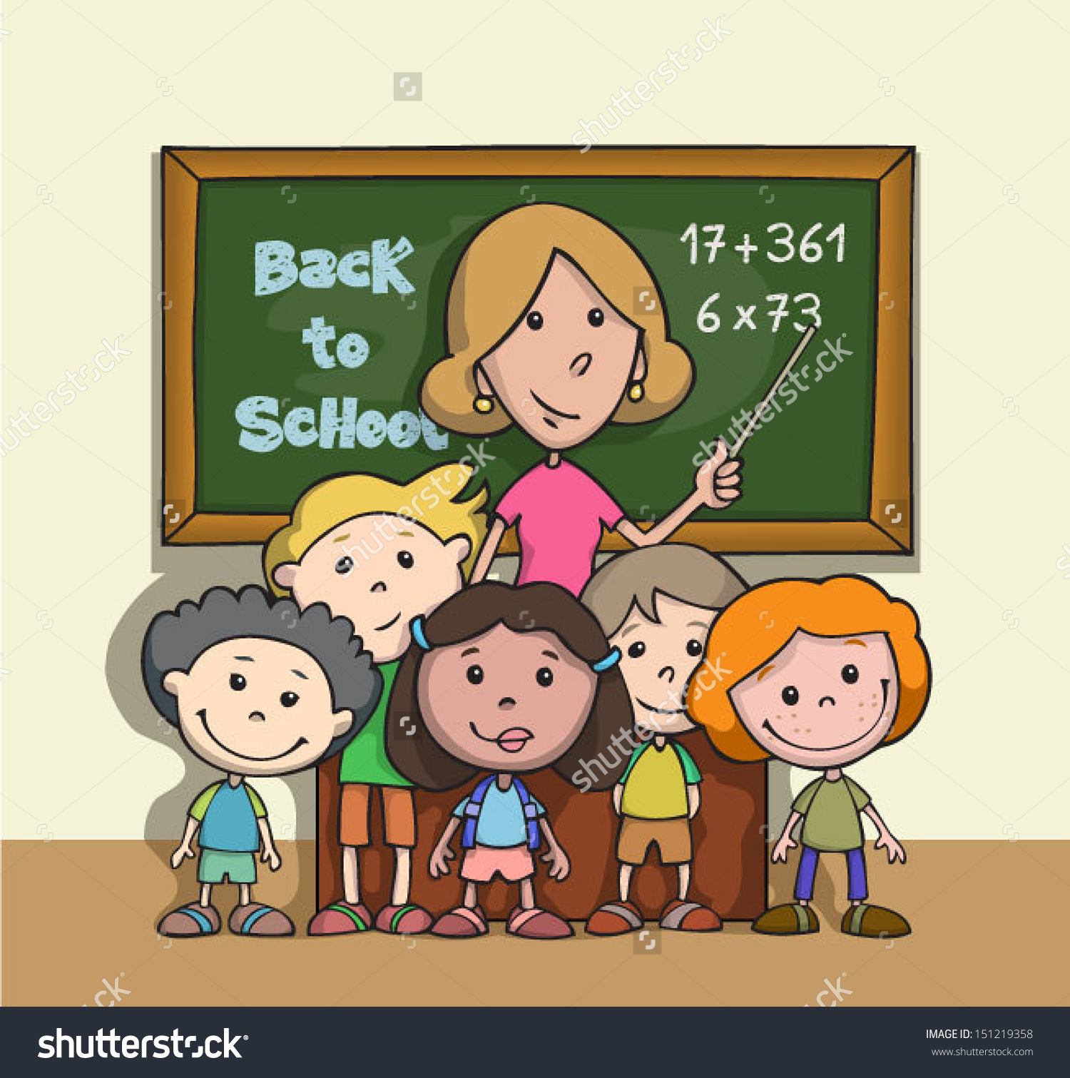 happy student and teacher hugging clipart #3