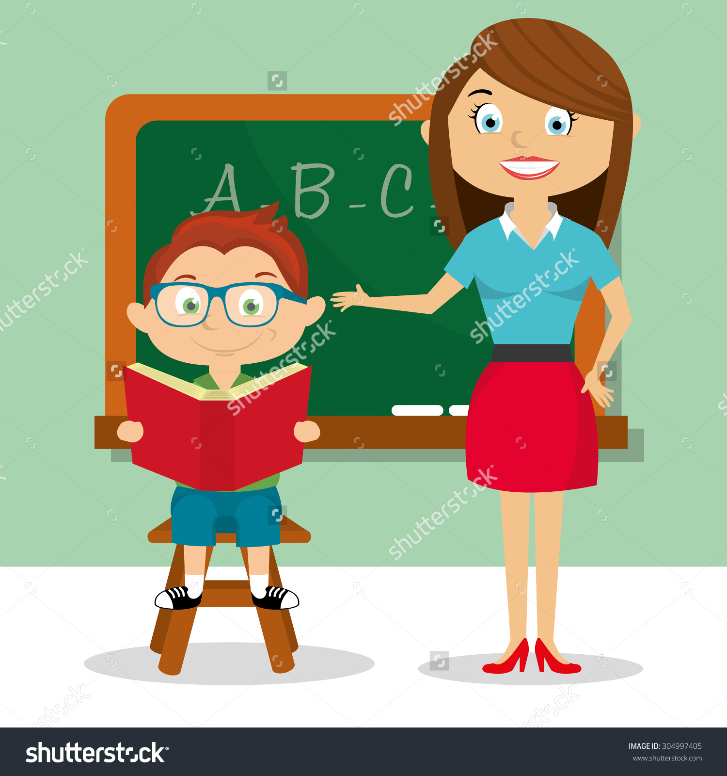 happy student and teacher hugging clipart #12