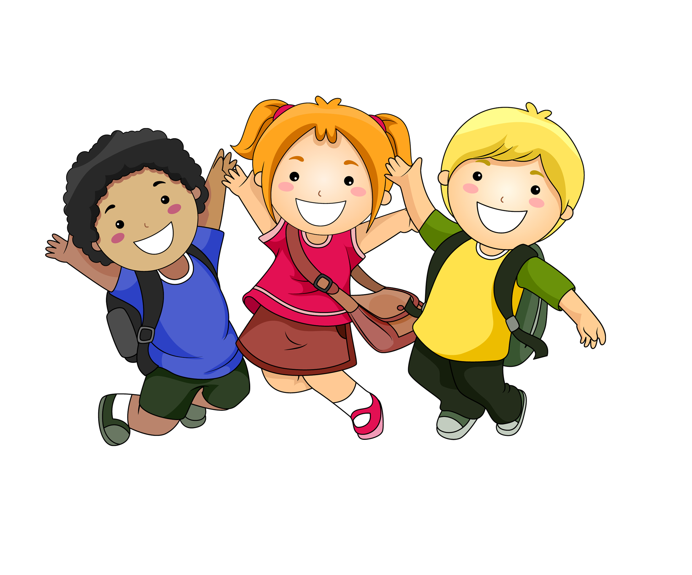 Download Students Happy Cartoon Child Free HQ Image Clipart PNG Free.
