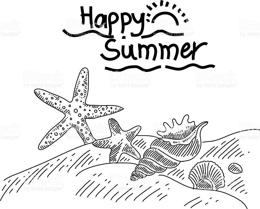 Summer Clipart Black And White.