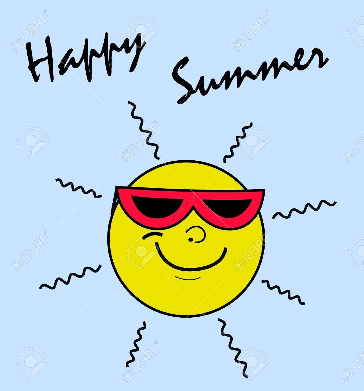free clip art : happy summer.