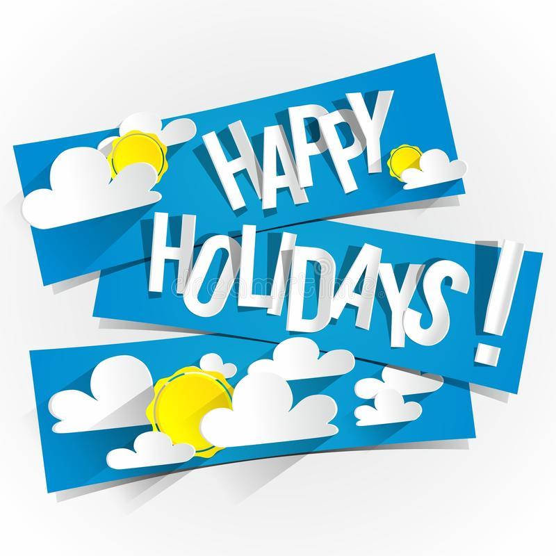 Happy Summer Holidays Stock Illustrations.
