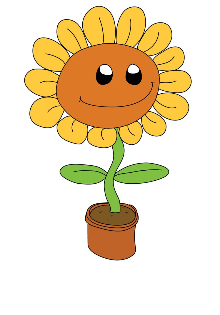 Happy Sunflower Clipart.