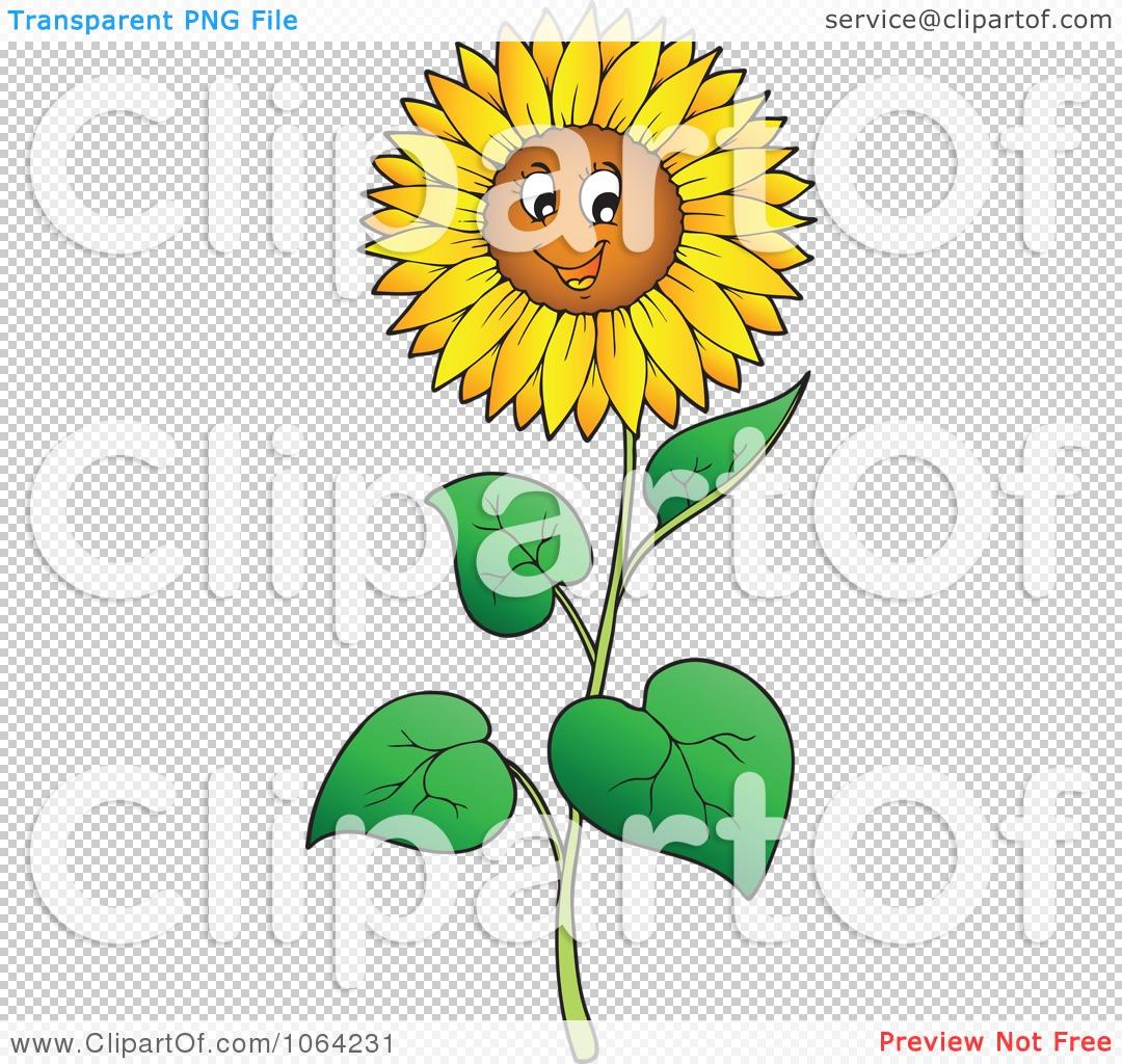 Clipart Happy Sunflower.