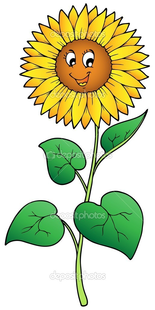 Free Happy Sunflower Clipart Image.