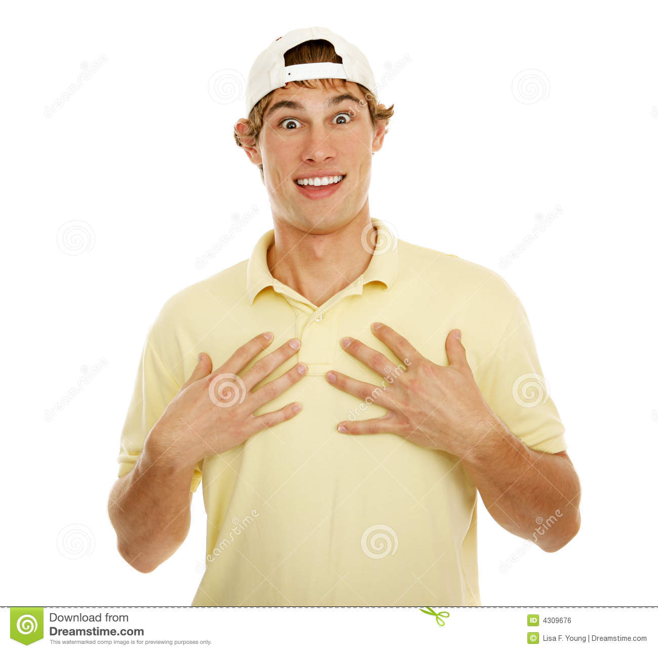 Young Man Happy Surprise Royalty Free Stock Image.