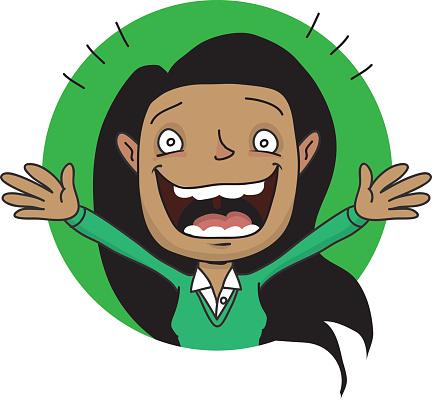Ecstatic Face Clip Art Clip Art, Vector Images & Illustrations.