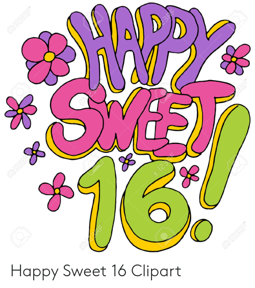 Happy Sweet 16 Clipart.