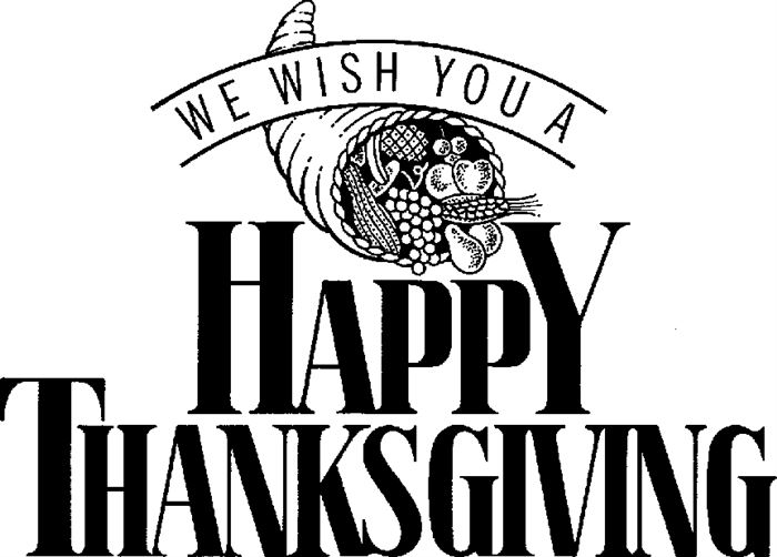Free Happy Thanksgiving Black And White, Download Free Clip.