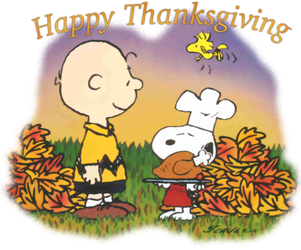 Charlie Brown Snoopy Thanksgiving Day Clip art.