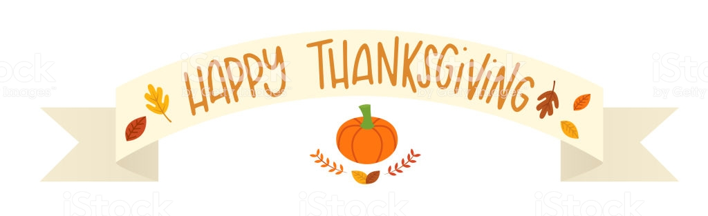 Vector Illustration Of A Happy Thanksgiving Banner Stock Vector Art.