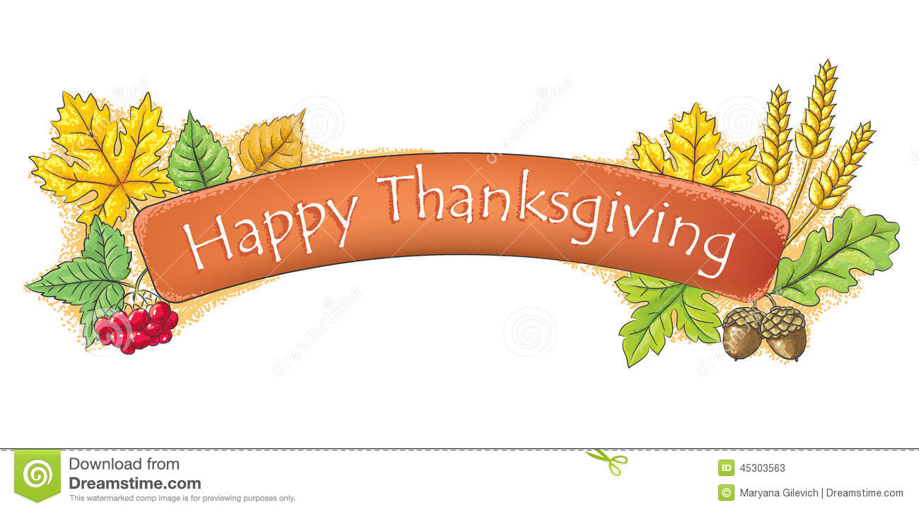 Happy Thanksgiving banner stock vector. Illustration of healthy.