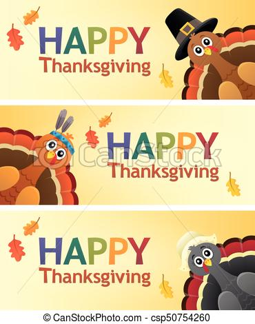 Happy Thanksgiving banners 1.