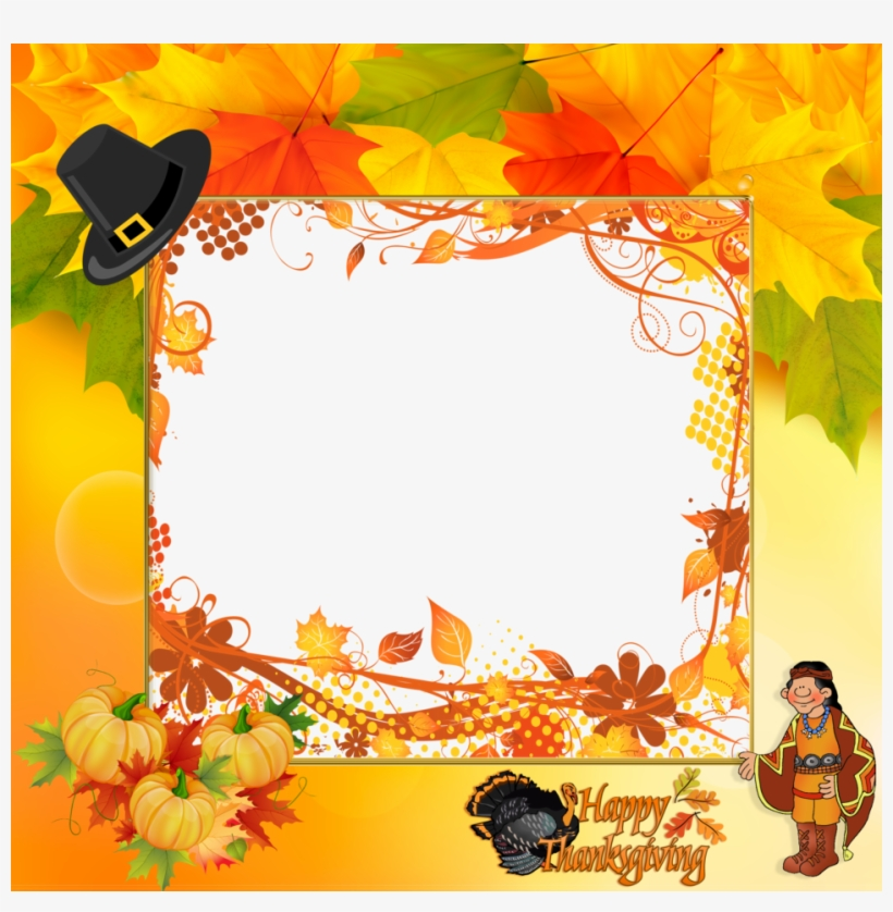 Happy Thanksgiving Frames Clipart Borders And Frames.