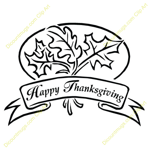 Happy thanksgiving clipart black and white 3 » Clipart Station.