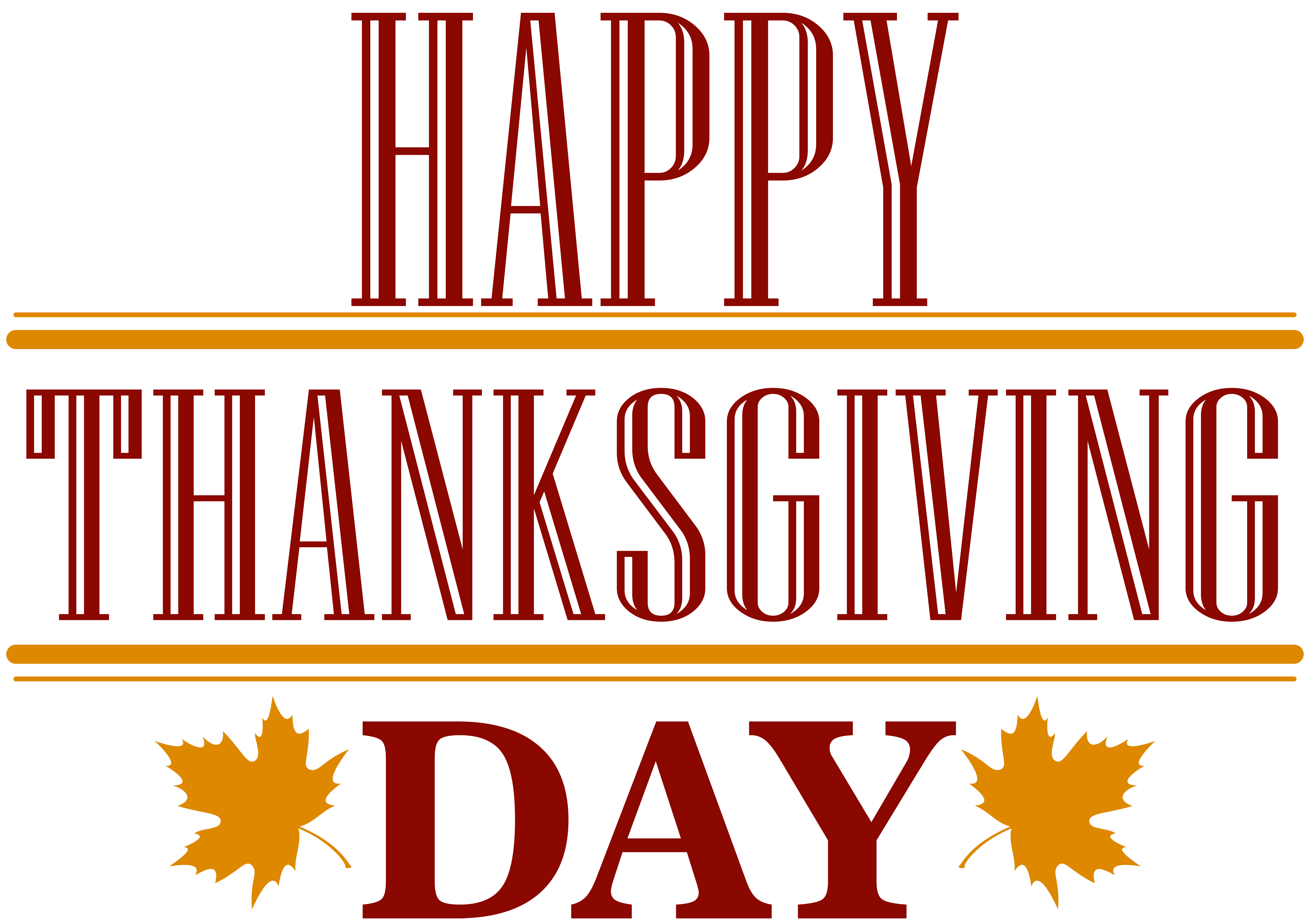 Happy Thanksgiving Day Text PNG Image.