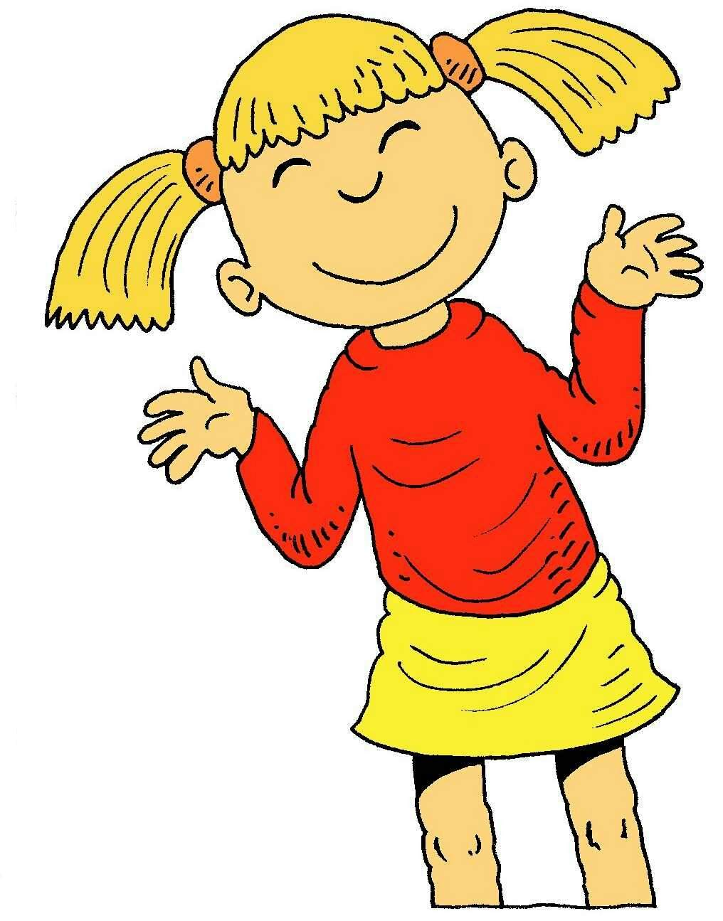 Happy Thoughts Girl Clipart.