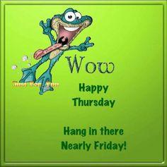 Funny Happy Thursday Clipart.
