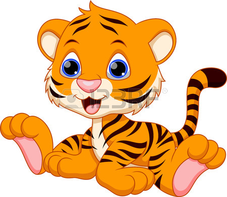 Baby tiger happy tiger clipart images image #17783.