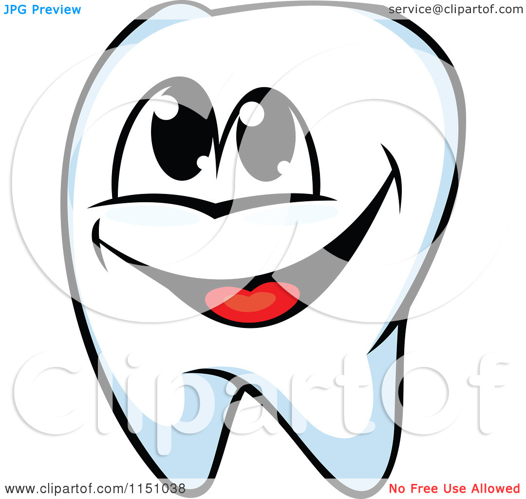 Clipart of a Happy Tooth.