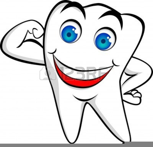 Free Happy Tooth Clipart.