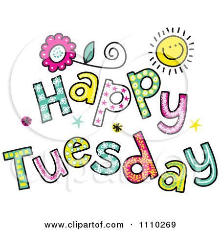 Happy Tuesday Winter Clipart.