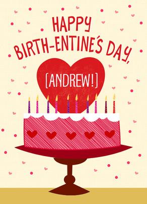 Valentine's Day Birthday Cake.
