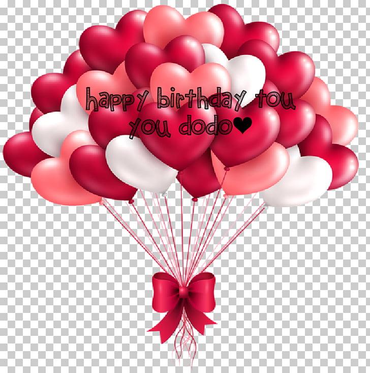Birthday Balloon Heart Valentine\'s Day , Birthday PNG.