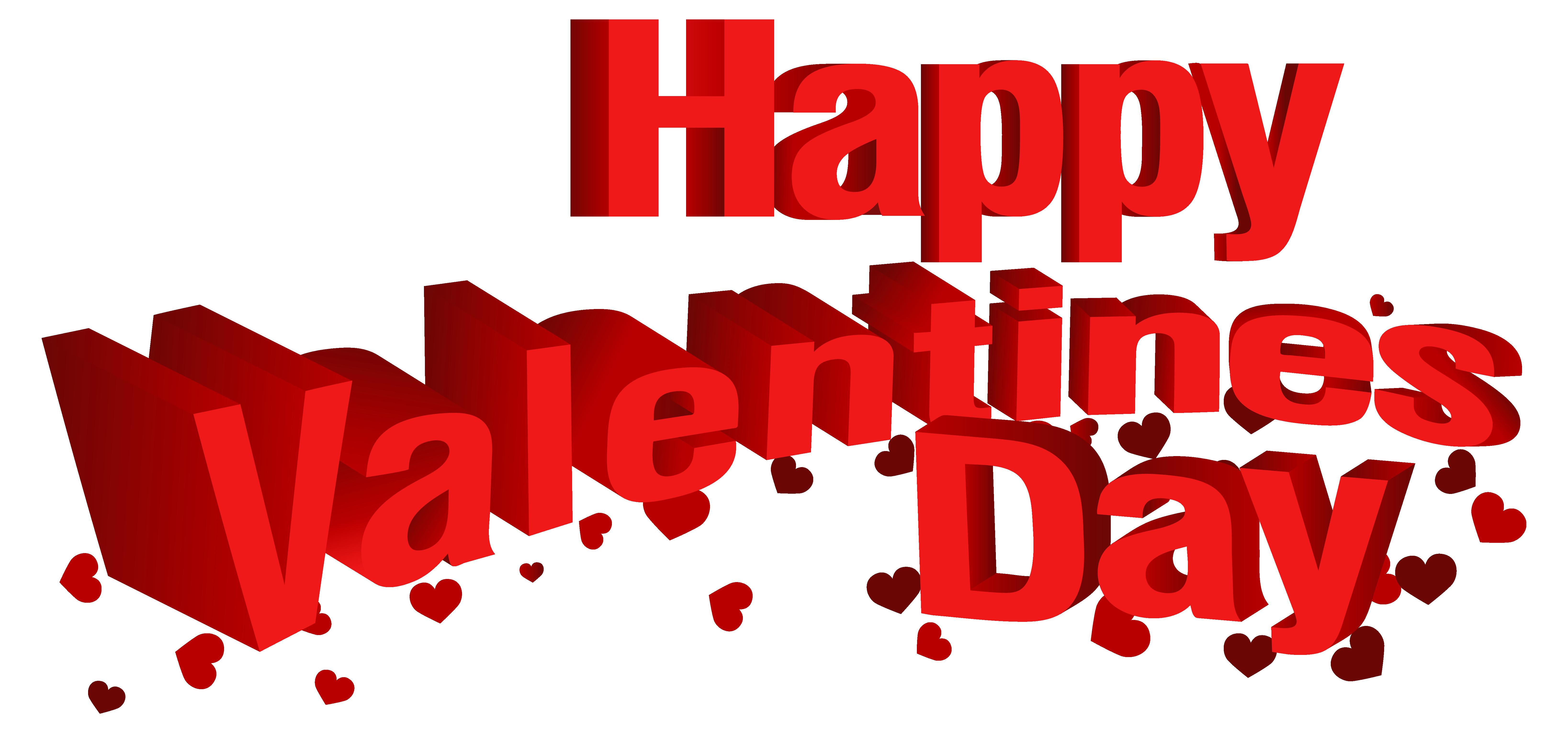 Happy Valentine\'s Day Transparent PNG Clip Art Image.