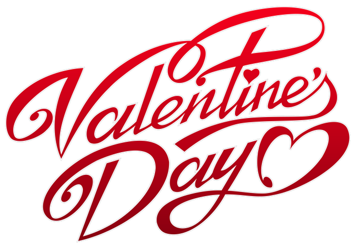 Valentines Day Text Decor PNG Clipart.