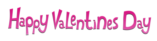 Happy Valentines Day Pink PNG Clipart Picture.