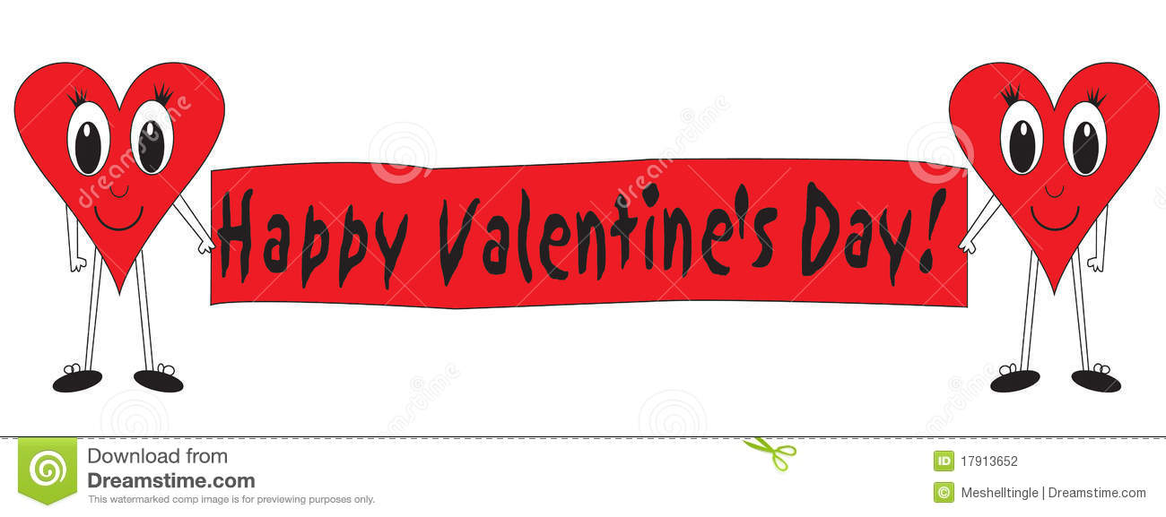 Happy Valentines Day stock illustration. Illustration of hearts.