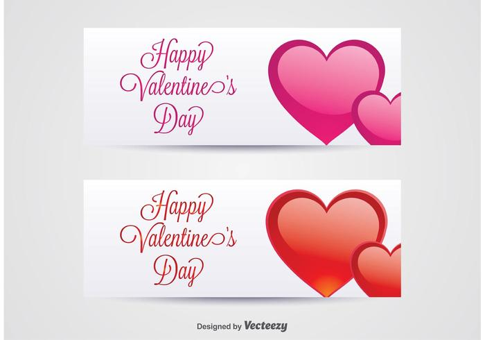 Valentine\'s Day Banners.