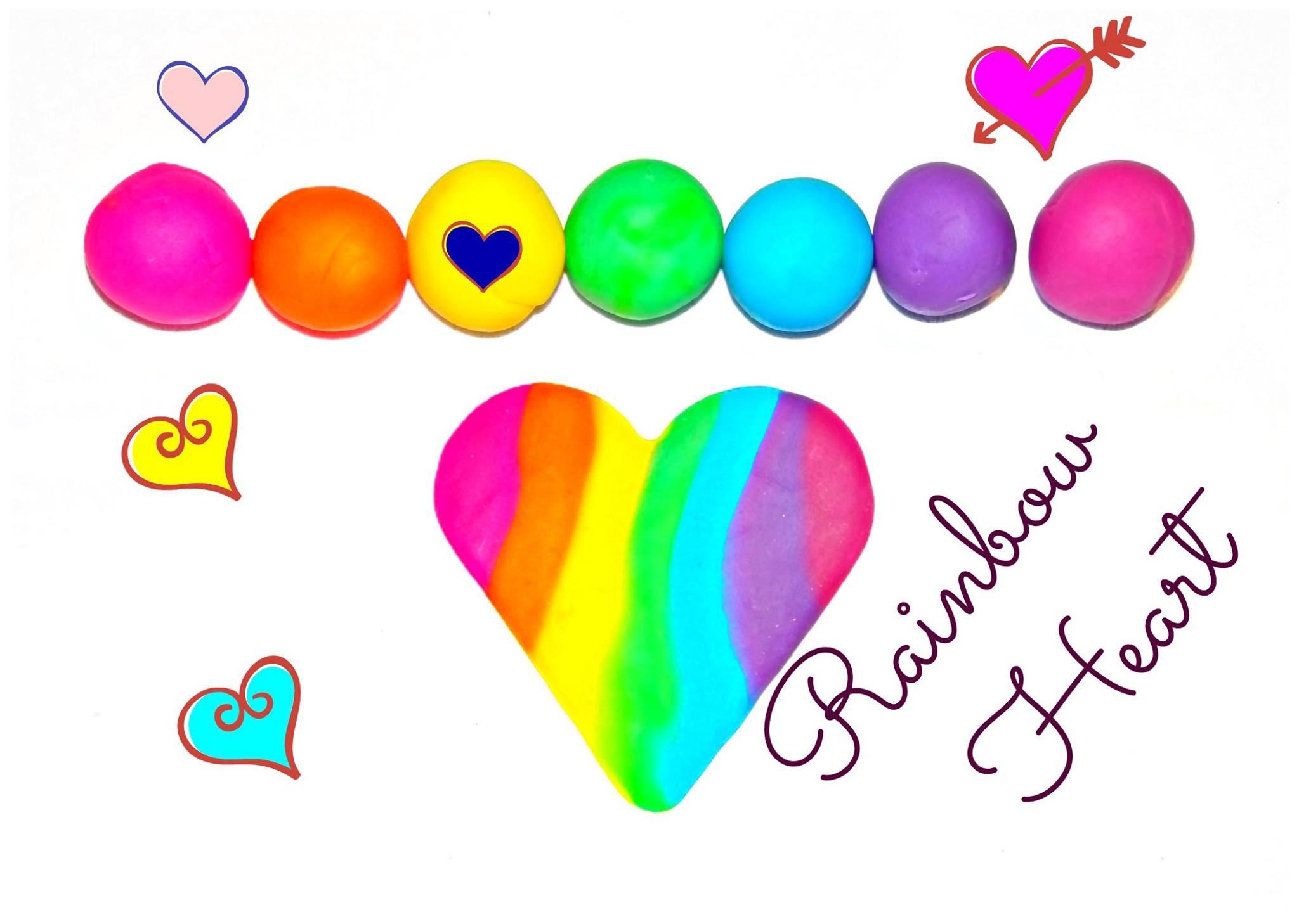 Play Doh Rainbow Heart.