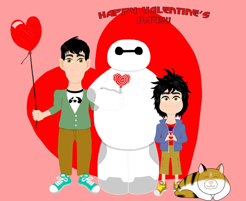 Happy Valentine's Day from the Hamada Brothers by DarkwingFan on.