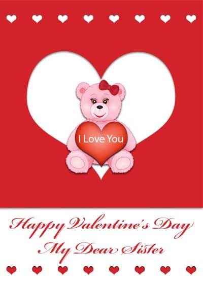 Happy Valentines Sister Quotes: Happy Valentines Day Brother Clipart