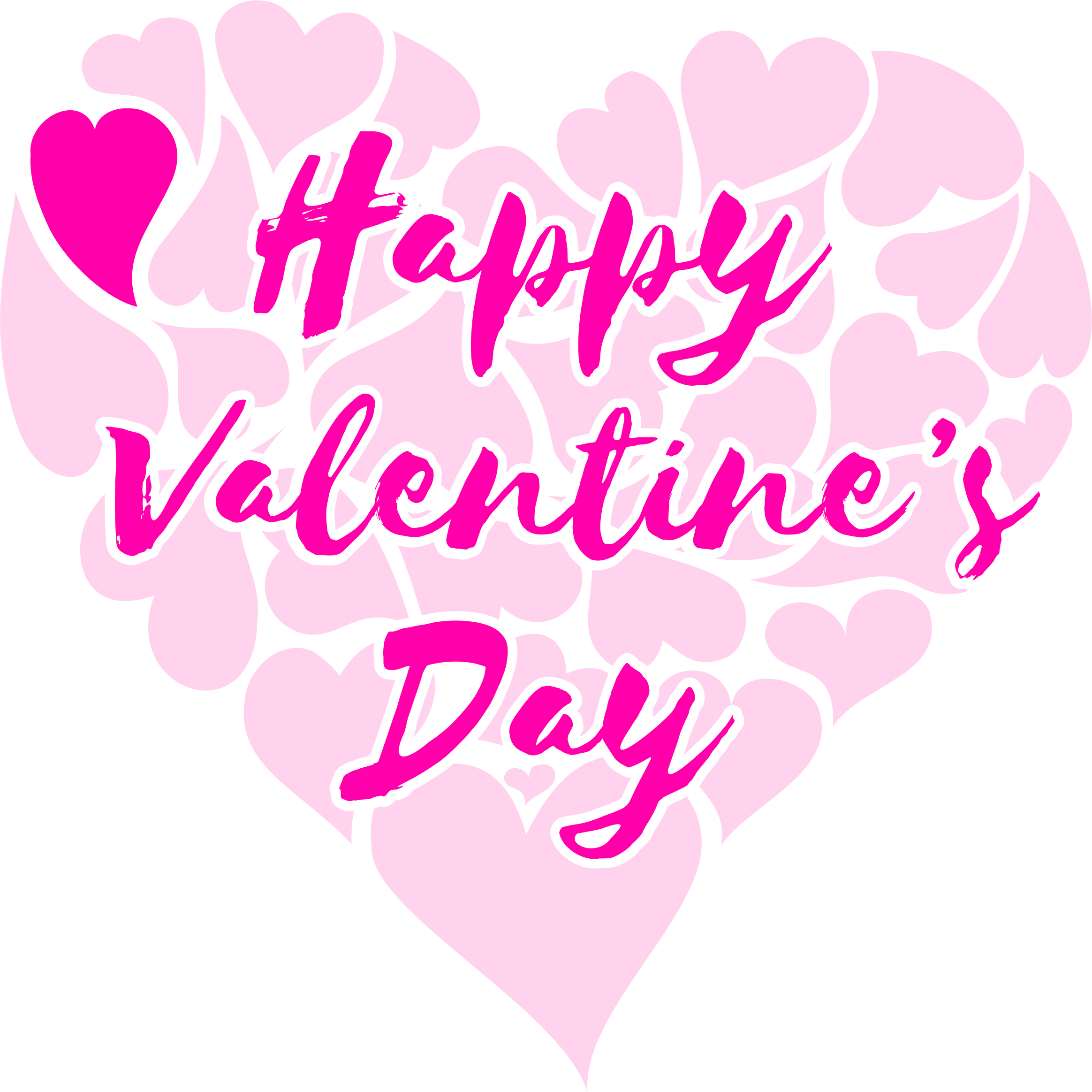 HD Clipart Happy Valentine 039 S Day Title With Hearts.
