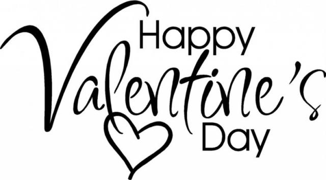 Happy Valentines Day Clip Art Black And White.