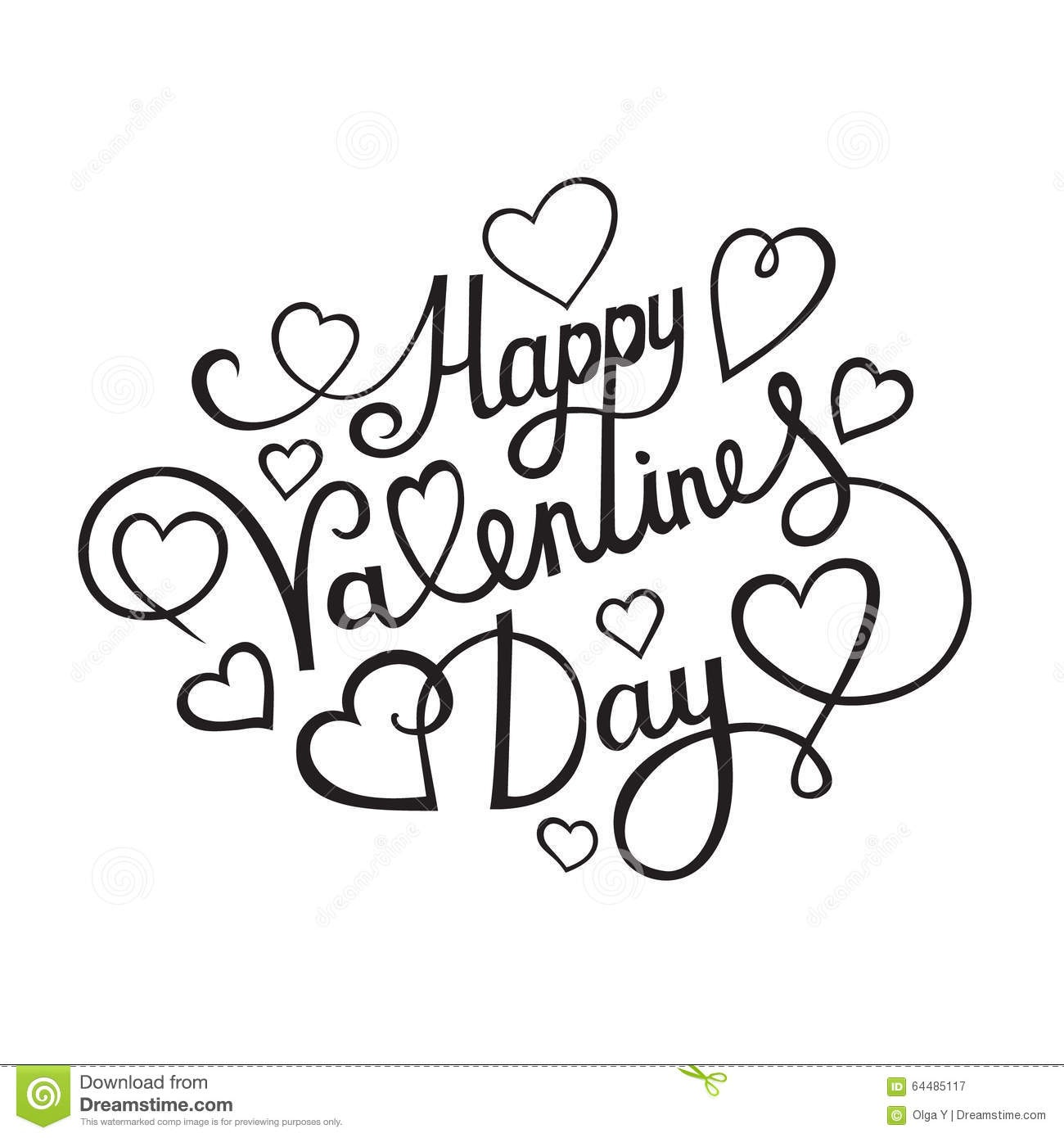 Happy Valentines Day Clipart Black And White.