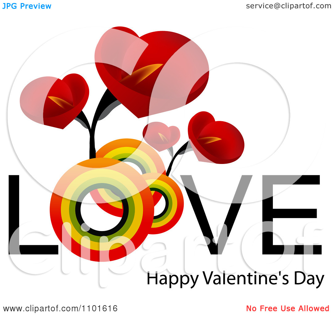 Happy Valentines Day Clipart Flowers Clipground