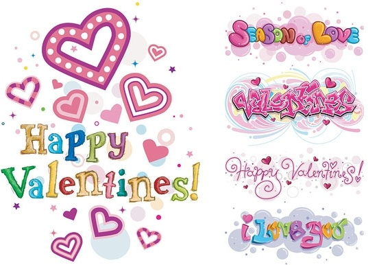 Happy Valentine's Day Heart Vector Card Free vector in.