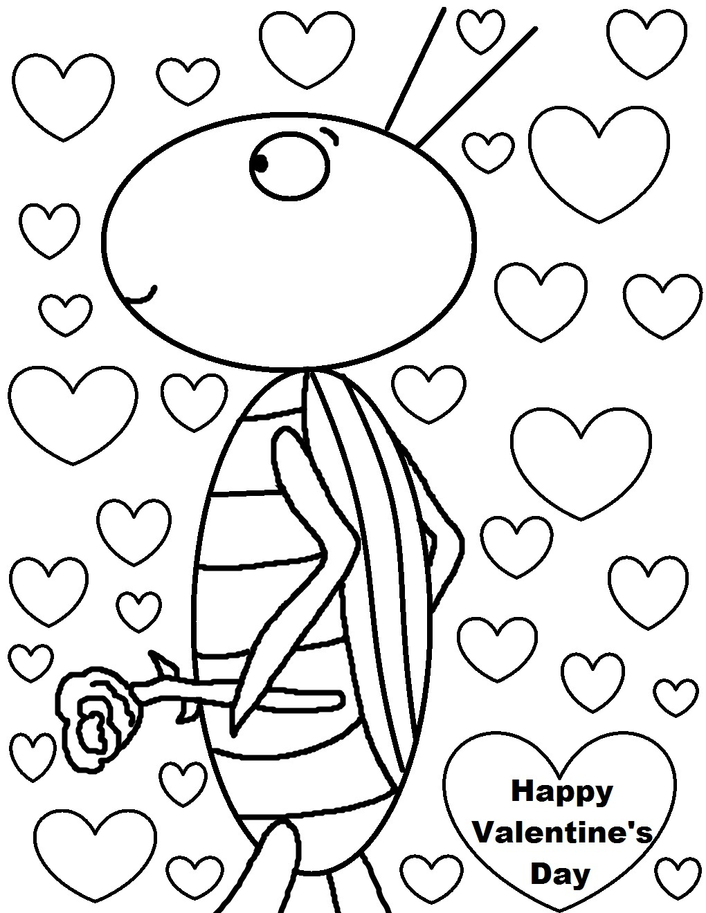 happy valentines day clipart to color Clipground