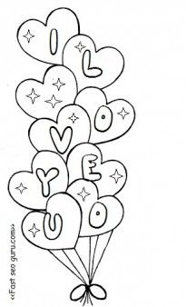 Free Valentine coloring pages.