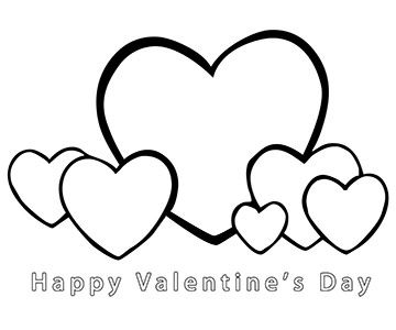 happy valentines day clipart to color - Clipground