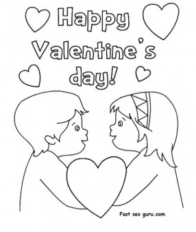 Happy Valentine's Day' coloring pages.