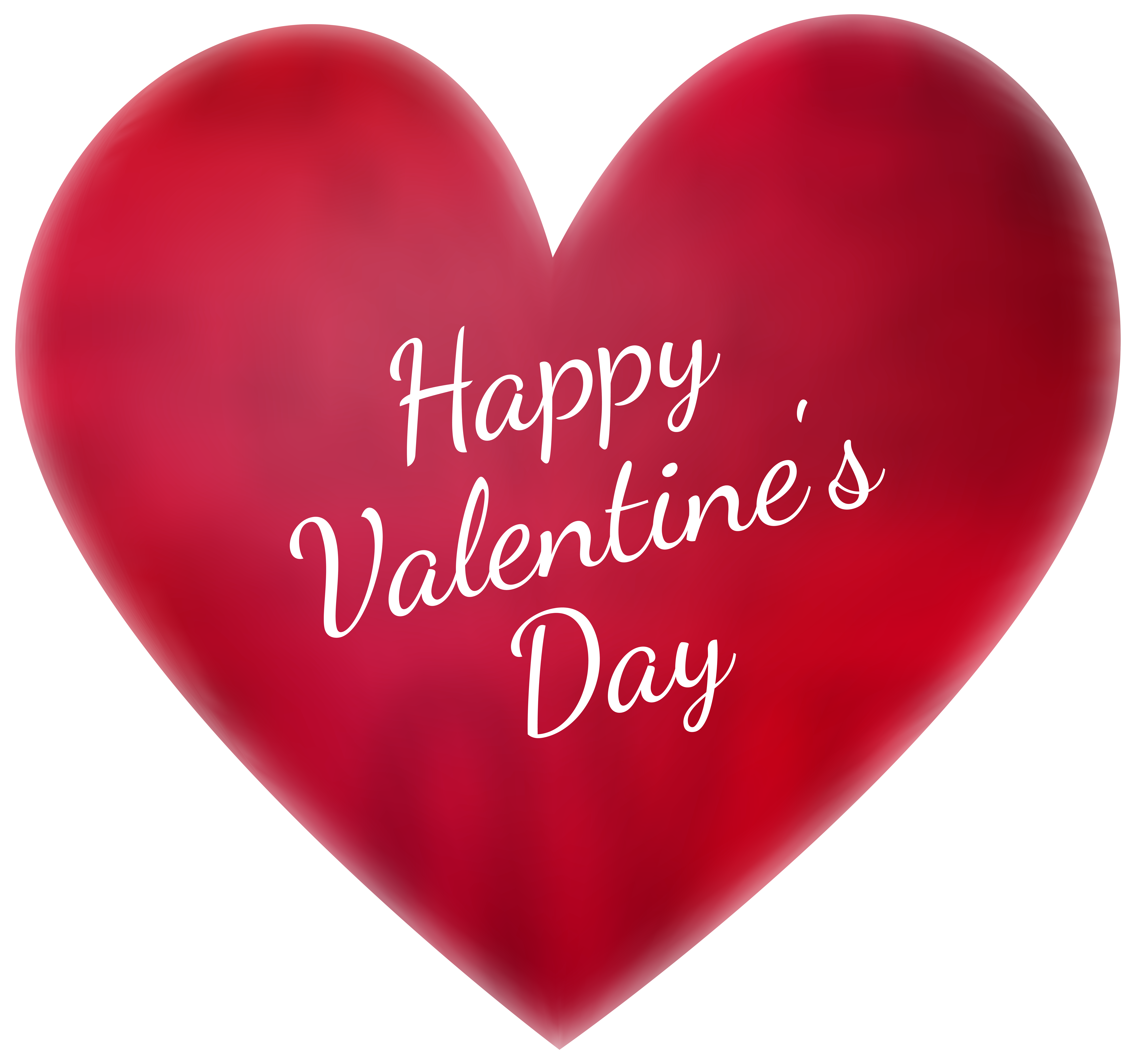 Happy Valentine\'s Day Deco Heart Transparent PNG Clip Art.