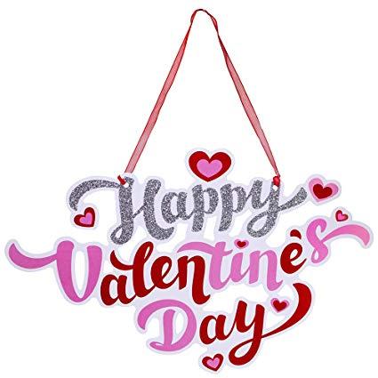 Amazon.com: Supla 2 Pcs Valentine's Day Door Signs Door Hangers.