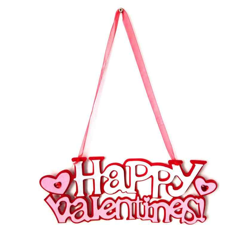 Hanging Signs Happy Valentine Day Pendant Felt Door Wall Hanging Ornaments  Valentine Party Decoration Scene Layout Wall Pendant.