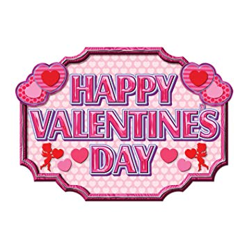 Happy Valentine's Day Sign Party Accessory (1 count).