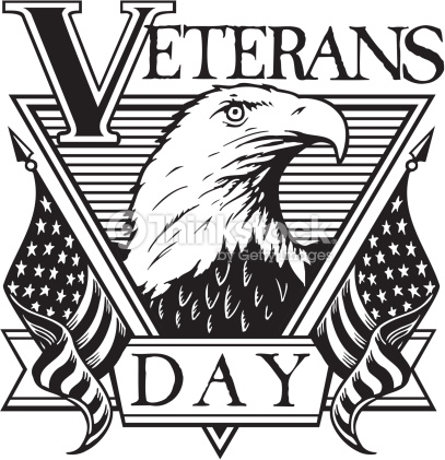 Veterans Day Black And White Clipart.